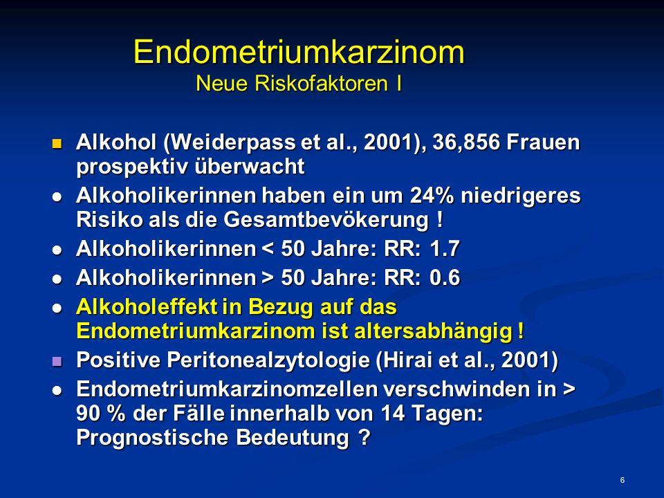 Endometriumkarzinom Neue Riskofaktoren I