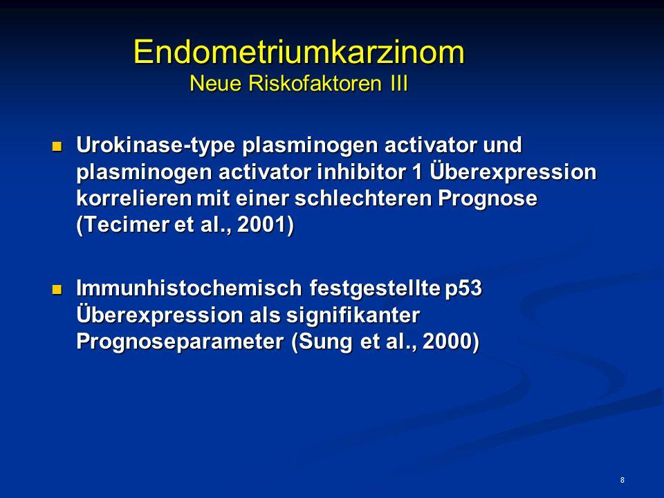 Endometriumkarzinom Neue Riskofaktoren III