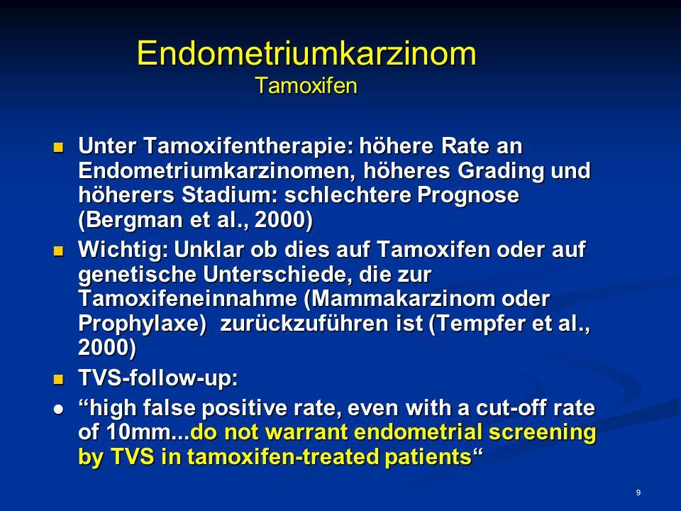 Endometriumkarzinom Tamoxifen