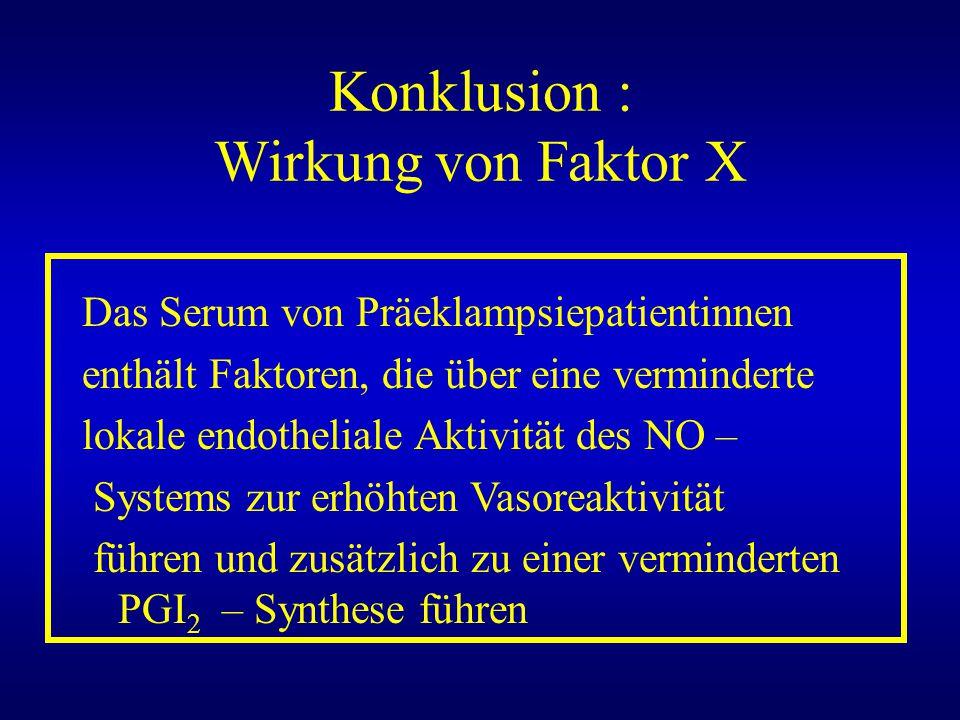 Konklusion : Wirkung von Faktor X