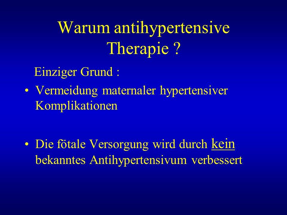 Warum antihypertensive Therapie