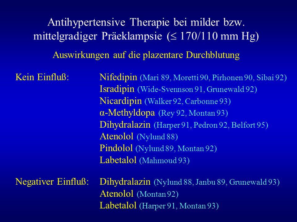Antihypertensive Therapie bei milder bzw