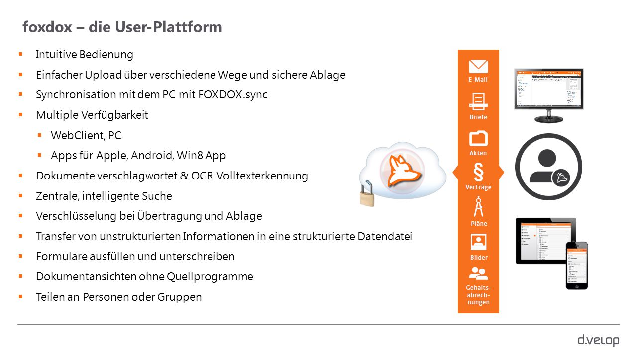 foxdox – die User-Plattform