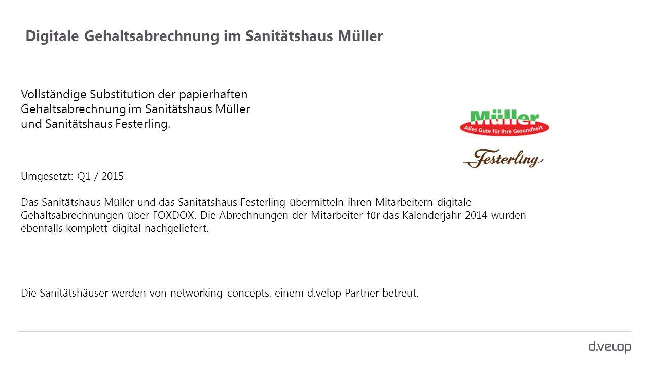 Digitale Gehaltsabrechnung im Sanitätshaus Müller