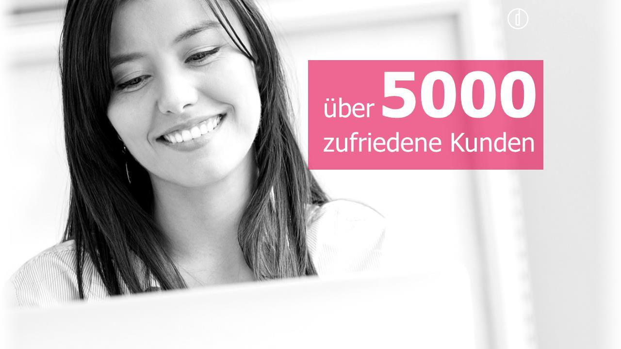 5000 über zufriedene Kunden
