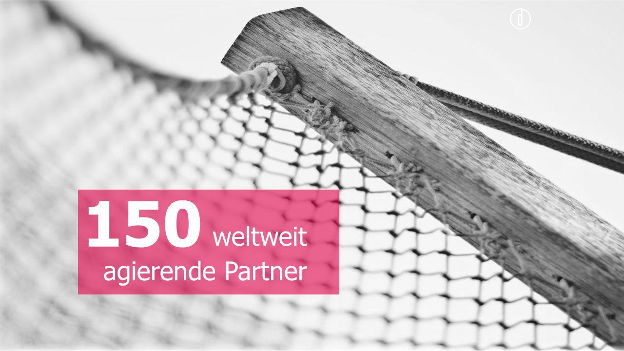 150 weltweit agierende Partner