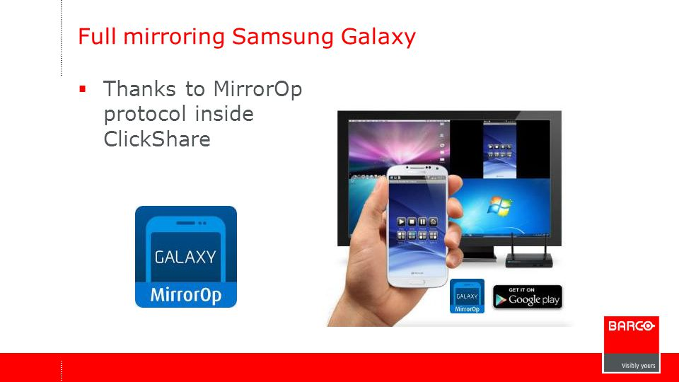 Full mirroring Samsung Galaxy