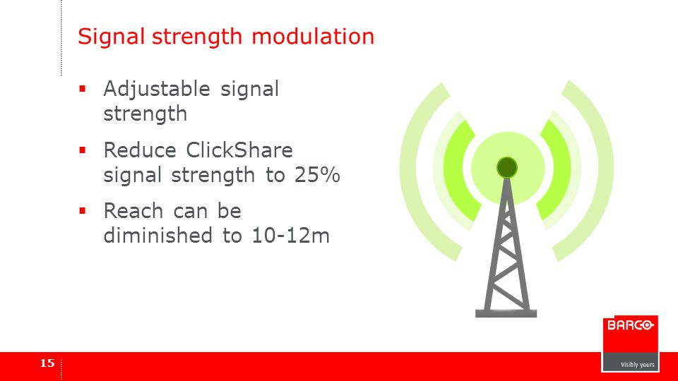 Signal strength modulation