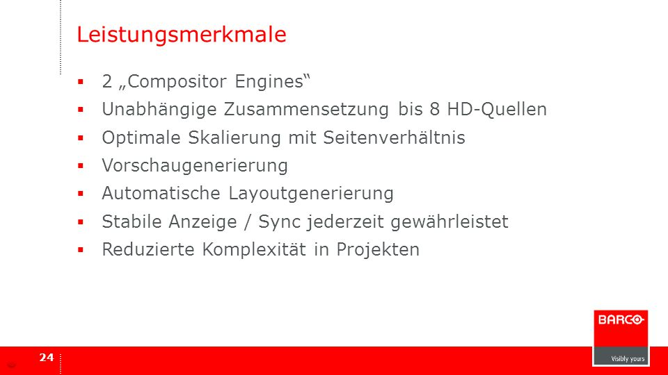 "Leistungsmerkmale 2 ""Compositor Engines"