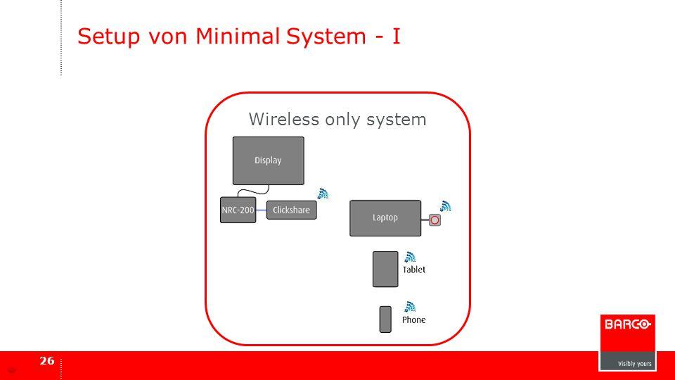 Setup von Minimal System - I
