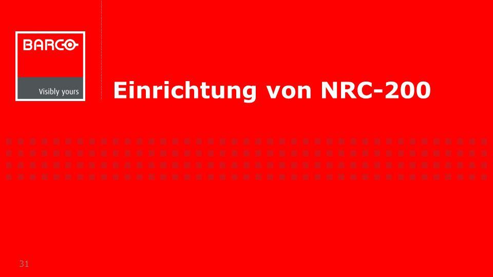 Einrichtung von NRC-200