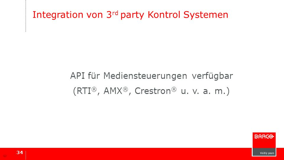 Integration von 3rd party Kontrol Systemen