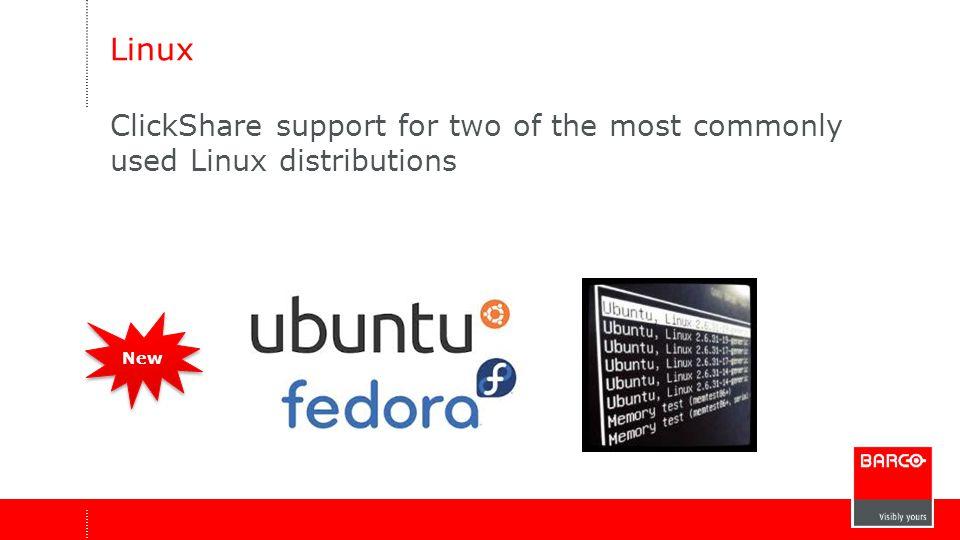 Fedora 20 en Ubuntu 14.04 LTS zijn de officieel ondersteunde distros.