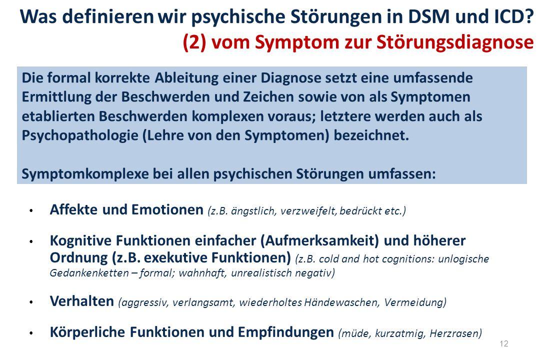 Was definieren wir psychische Störungen in DSM und ICD