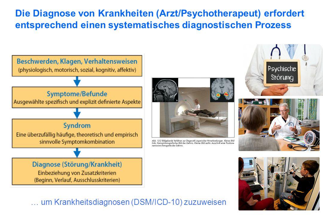 … um Krankheitsdiagnosen (DSM/ICD-10) zuzuweisen