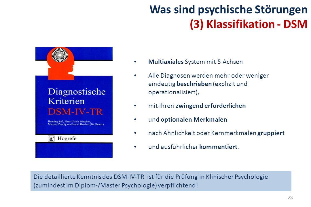 Was sind psychische Störungen (3) Klassifikation - DSM