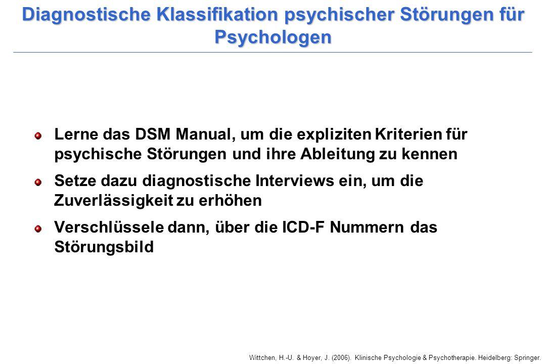 Diagnostische Klassifikation psychischer Störungen für Psychologen