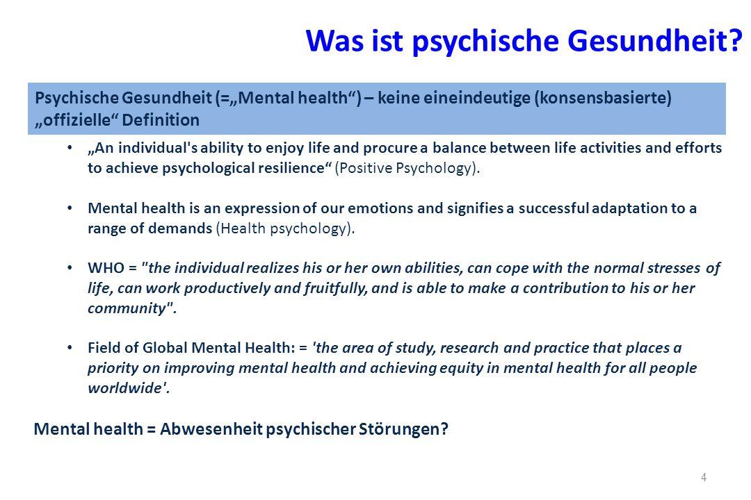 Was ist psychische Gesundheit