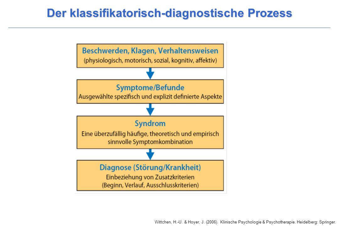 Der klassifikatorisch-diagnostische Prozess