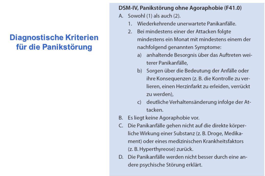 Diagnostische Kriterien für die Panikstörung
