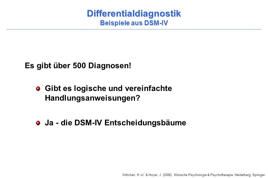 Differentialdiagnostik Beispiele aus DSM-IV