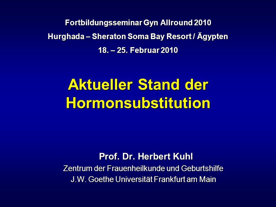 Aktueller Stand der Hormonsubstitution