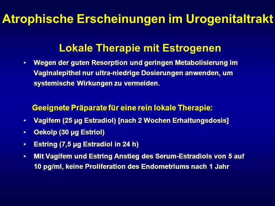 Atrophische Erscheinungen im Urogenitaltrakt