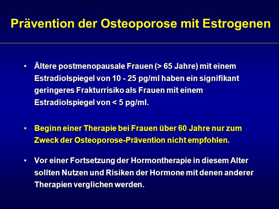 Prävention der Osteoporose mit Estrogenen
