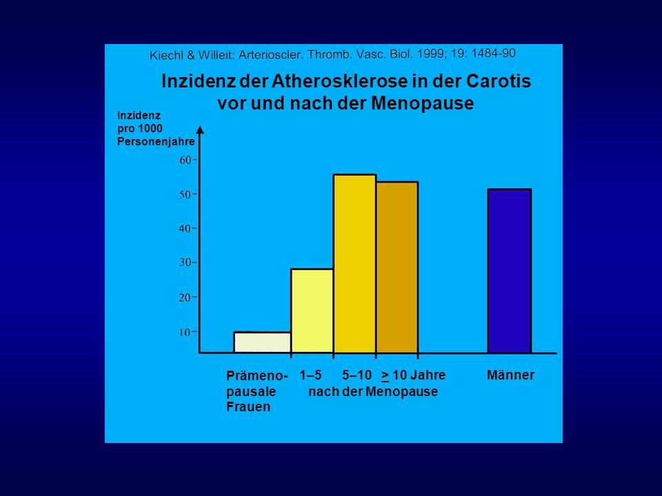 Inzidenz der Atherosklerose in der Carotis vor und nach der Menopause