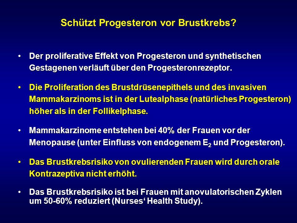 Schützt Progesteron vor Brustkrebs
