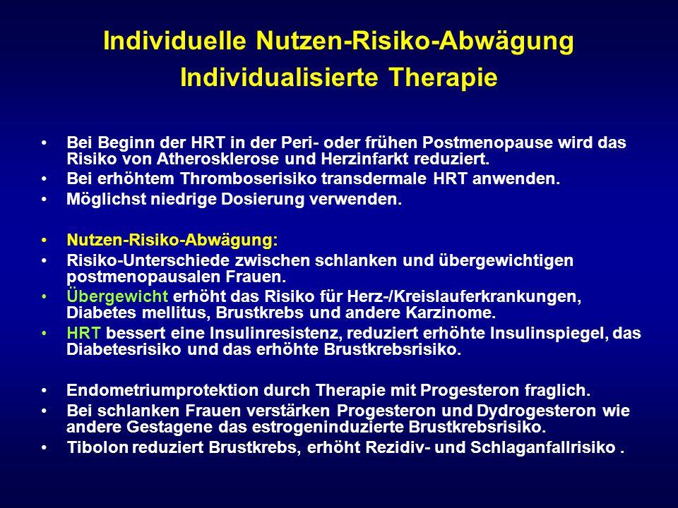 Individuelle Nutzen-Risiko-Abwägung Individualisierte Therapie