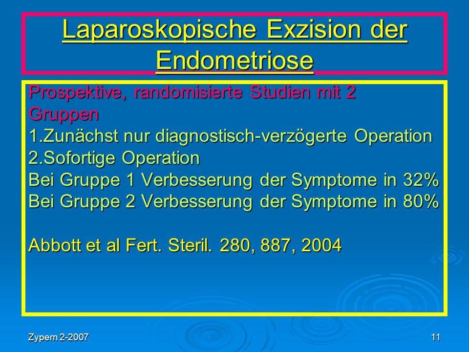 Laparoskopische Exzision der Endometriose