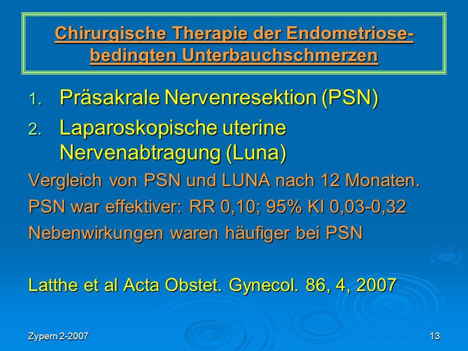 Chirurgische Therapie der Endometriose-bedingten Unterbauchschmerzen