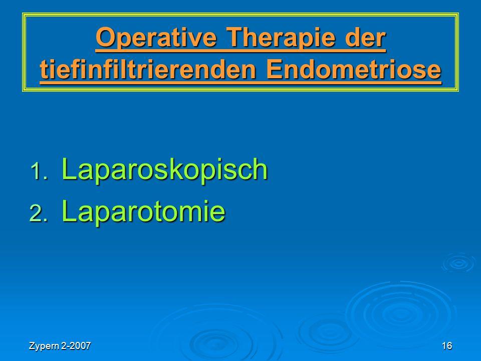 Operative Therapie der tiefinfiltrierenden Endometriose