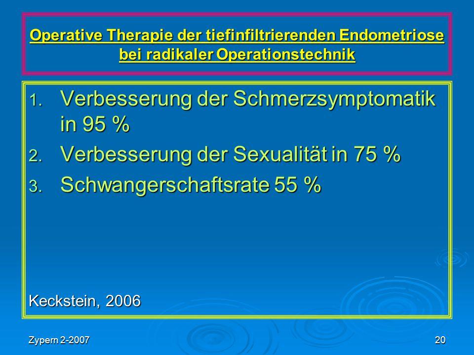 Verbesserung der Schmerzsymptomatik in 95 %