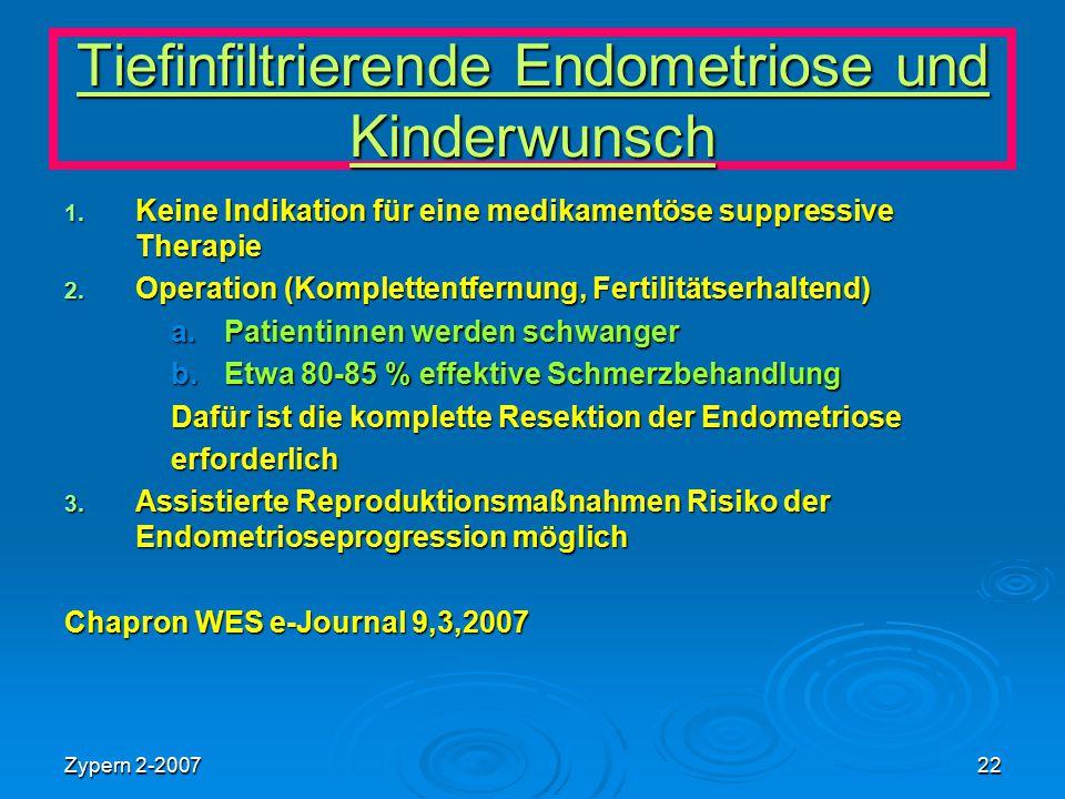 Tiefinfiltrierende Endometriose und Kinderwunsch