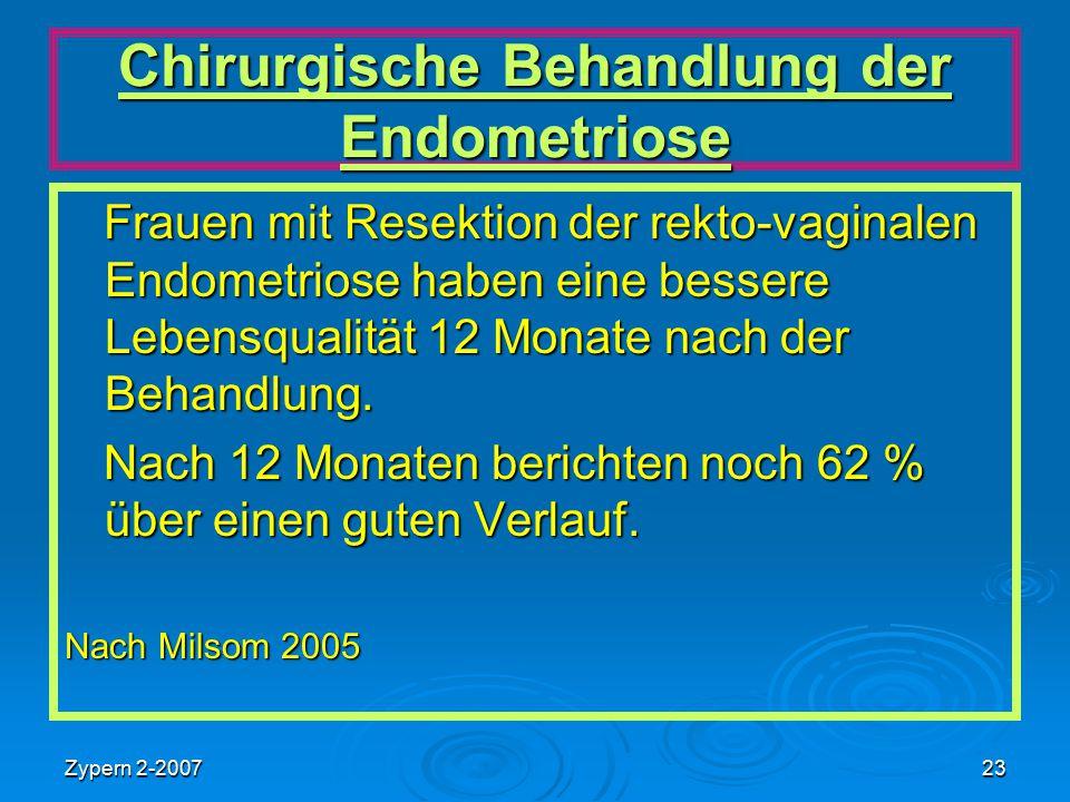 Chirurgische Behandlung der Endometriose