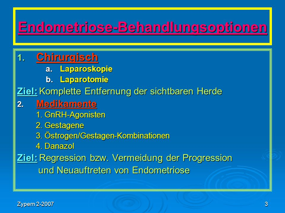 Endometriose-Behandlungsoptionen