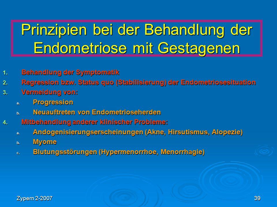 Prinzipien bei der Behandlung der Endometriose mit Gestagenen