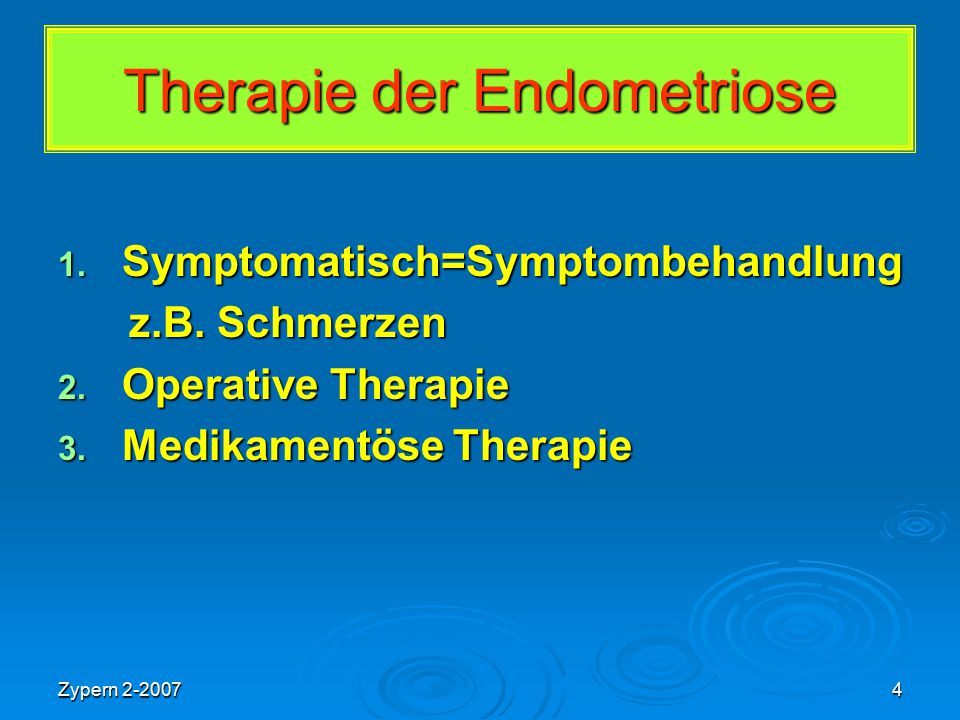 Therapie der Endometriose