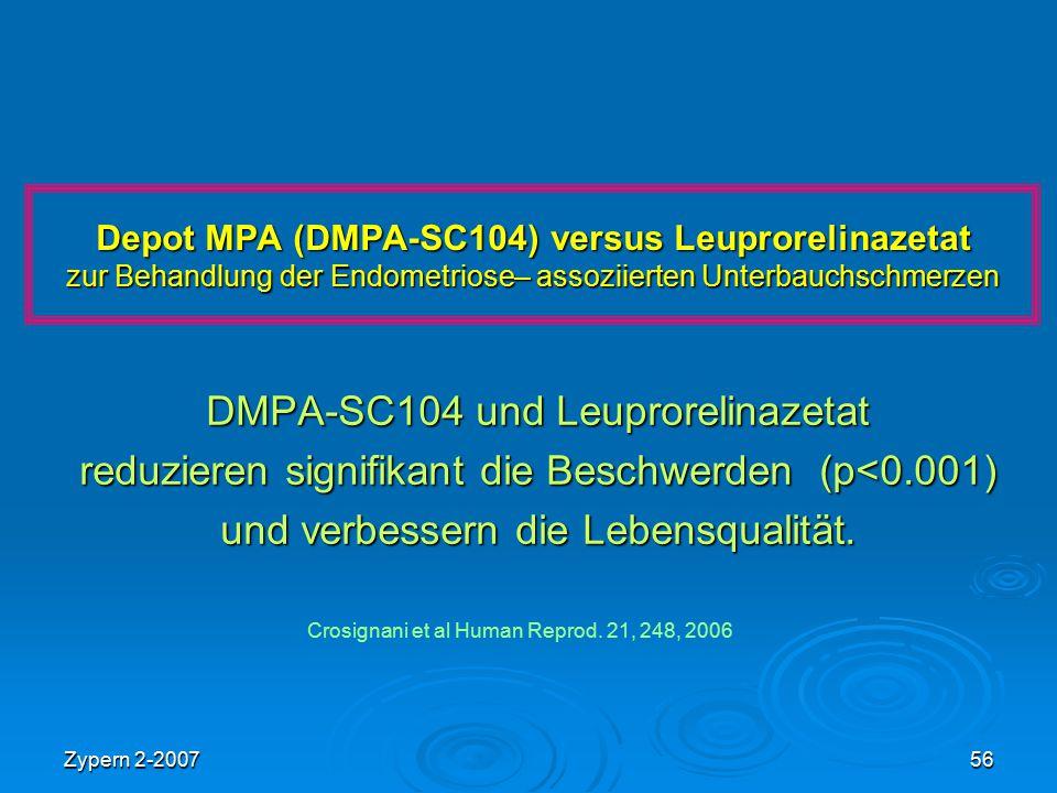 DMPA-SC104 und Leuprorelinazetat