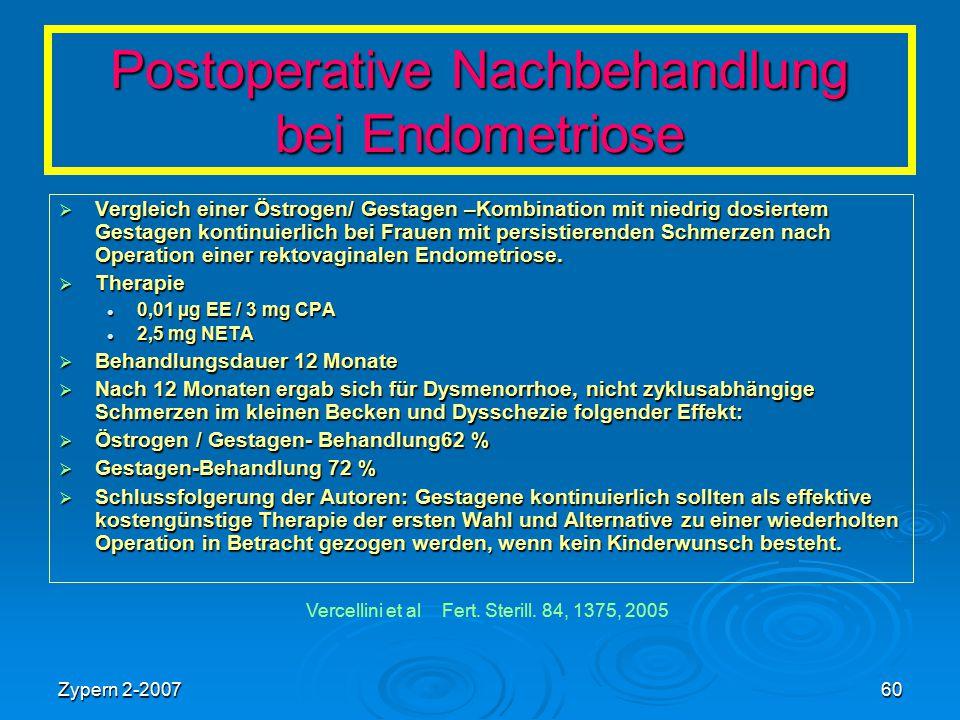 Postoperative Nachbehandlung bei Endometriose