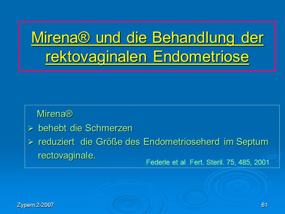 Mirena® und die Behandlung der rektovaginalen Endometriose