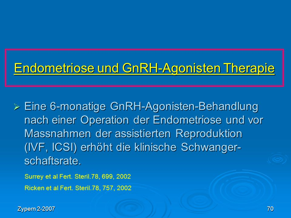 Endometriose und GnRH-Agonisten Therapie