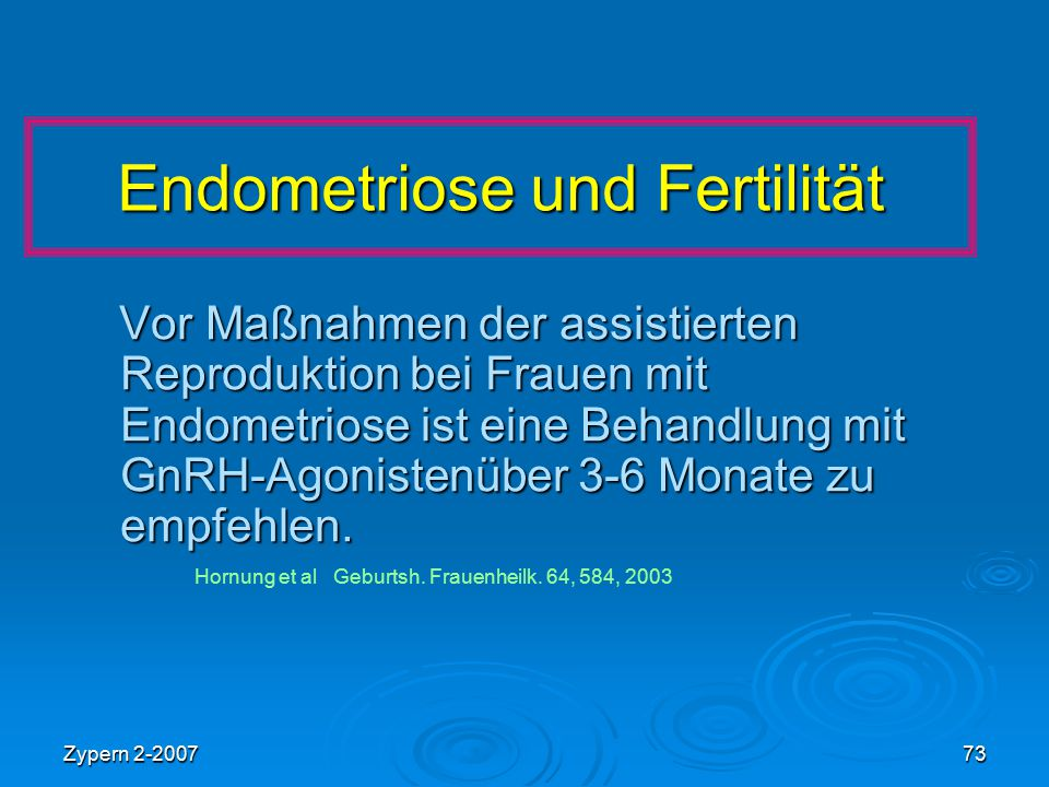Endometriose und Fertilität