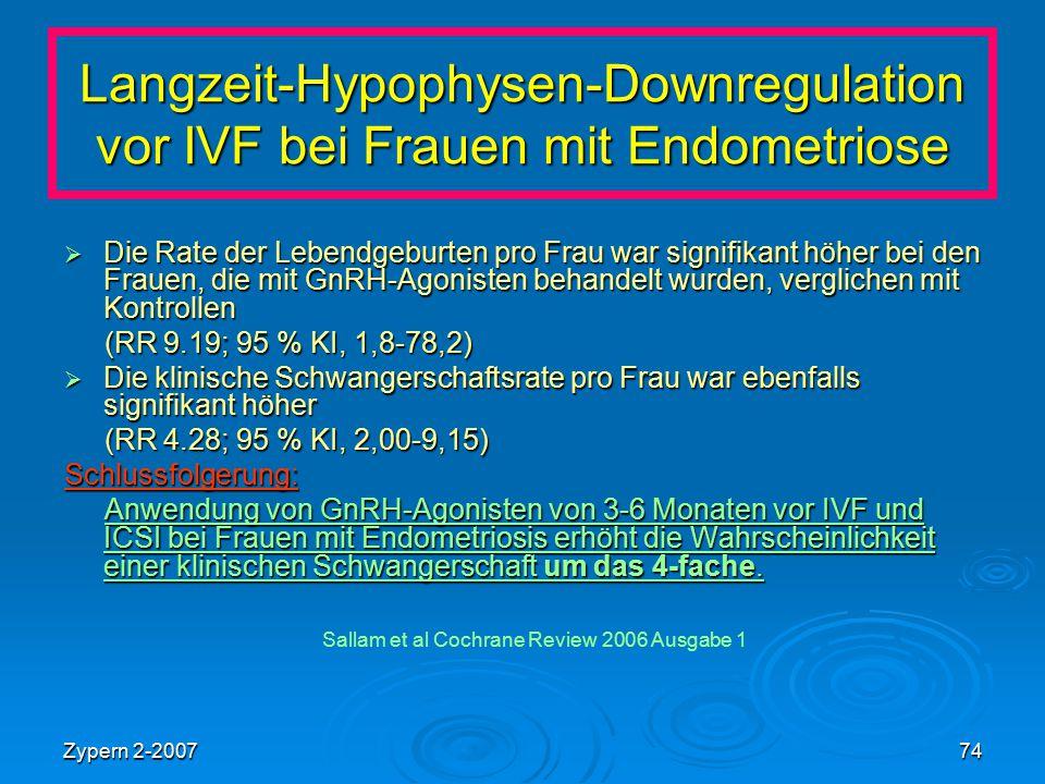 Langzeit-Hypophysen-Downregulation vor IVF bei Frauen mit Endometriose