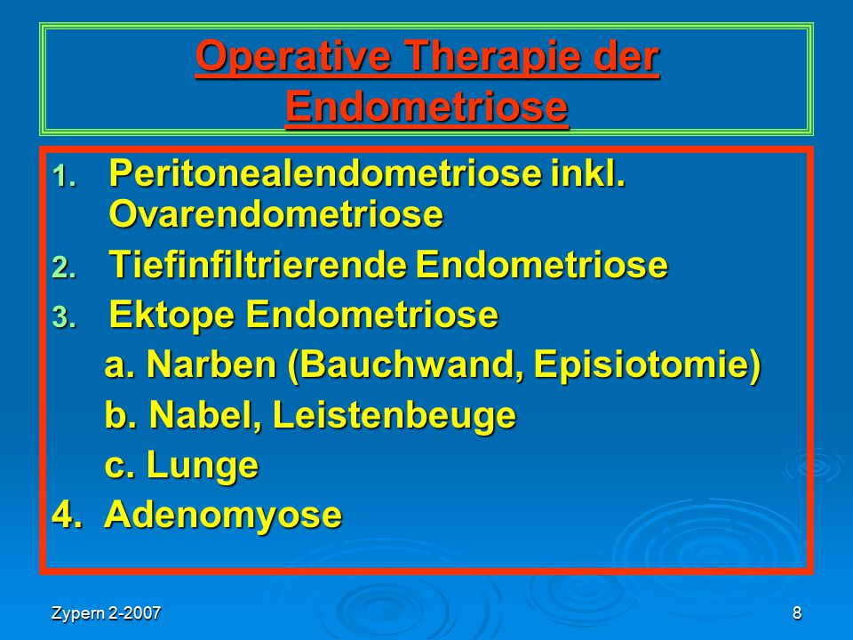 Operative Therapie der Endometriose