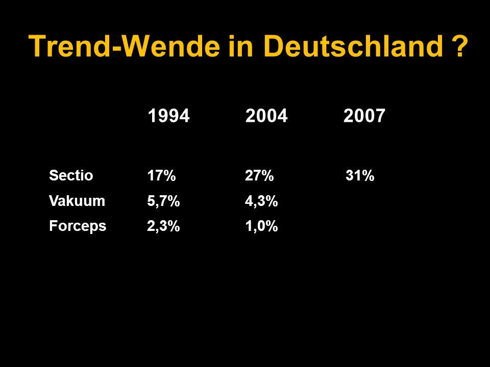 Trend-Wende in Deutschland