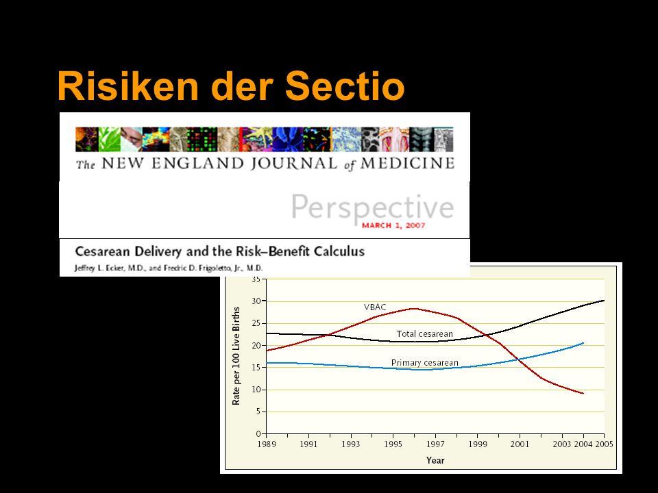 Risiken der Sectio