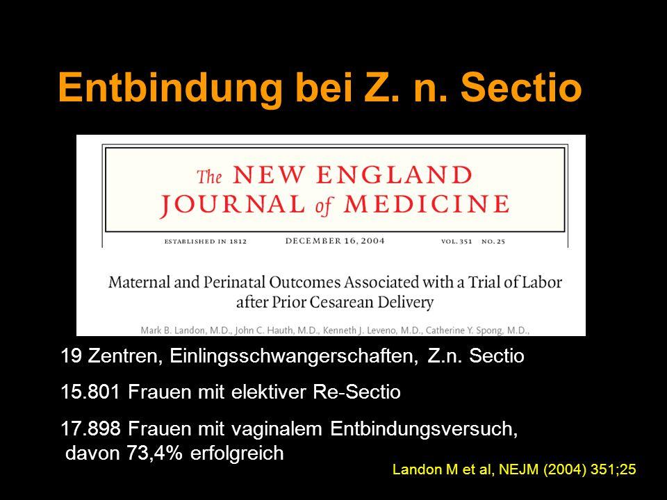 Entbindung bei Z. n. Sectio